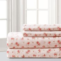 Amraupur Overseas Sweet Rose Printed 4-piece Sheet Set