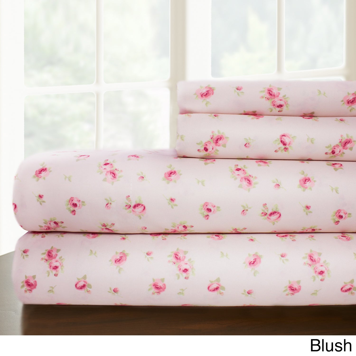 amrapur overseas inc printed sheet set blush queen  ebay - picture  of