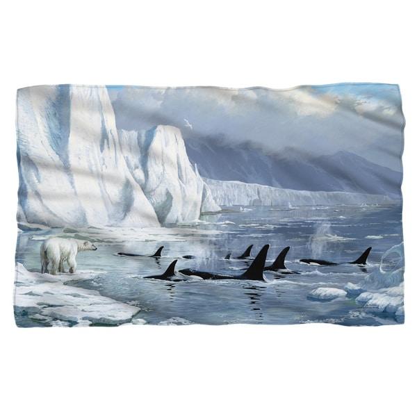 Wild Wings/Glacier'S Edge 2 Fleece Blanket in White