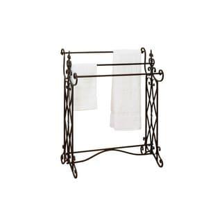 Ornate Scroll Design Iron Towel Rack