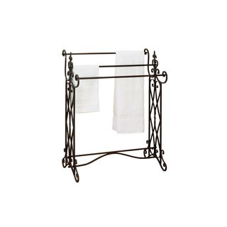 Ornate Scroll Design Iron Towel Rack