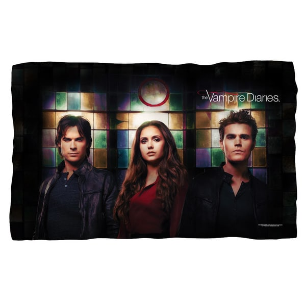 Vampire Diaries/Stained Glass Fleece Blanket in White