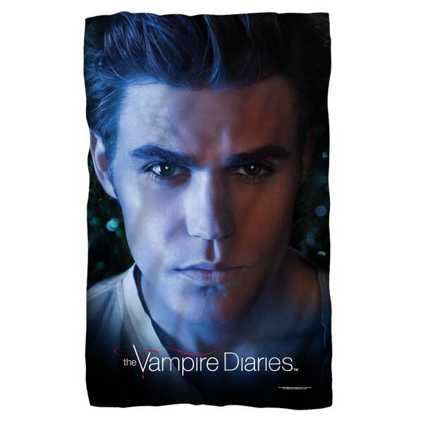 Vampire Diaries/Stefan Eyes Fleece Blanket in White