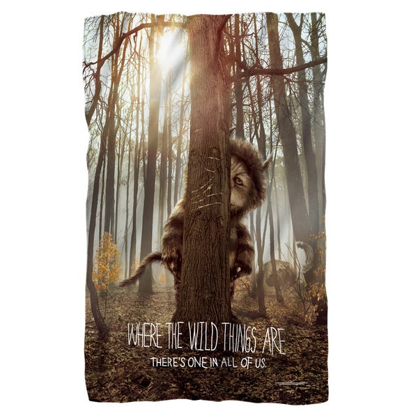 Where The Wild Things Are/Wild Thing Tree Fleece Blanket in White