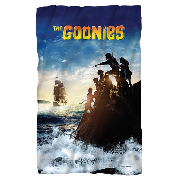 Goonies/Ship Fleece Blanket in White