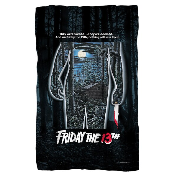 Friday The 13Th/Poster Fleece Blanket in White