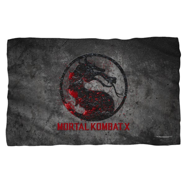 Mortal Kombat X/Stone Logo Fleece Blanket in White