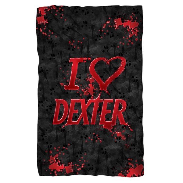 Dexter/I Heart Dexter Fleece Blanket in White