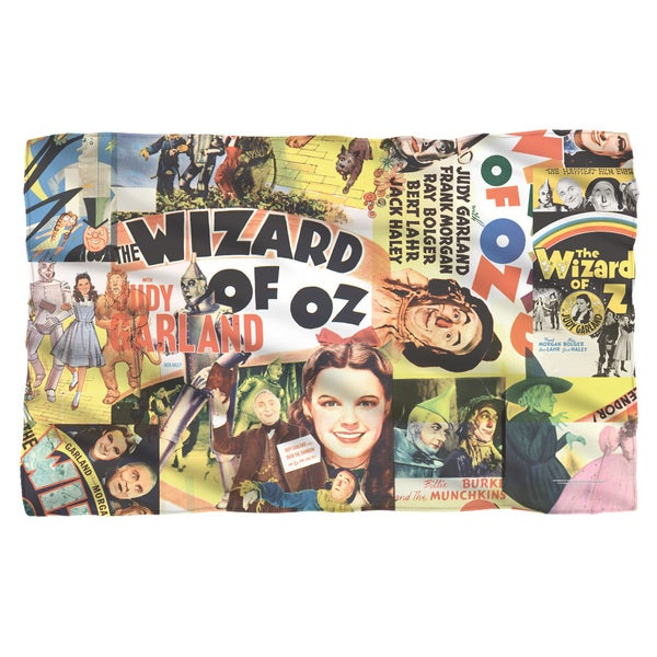 Wizard Of Oz/Collage Fleece Blanket in White
