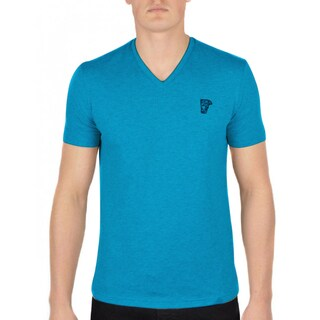Versace Collection Blue V-neck T-shirt