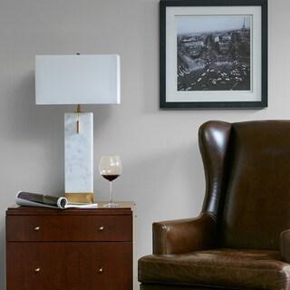 Madison Park Signature Bringham White/ Gold Large Table Lamp