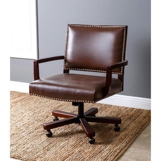 ABBYSON LIVING Toronto Brown Leather Office Chair
