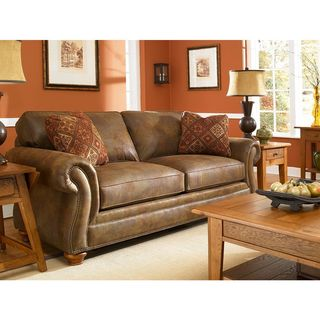 Broyhill Laramie Brown Suede Sofa