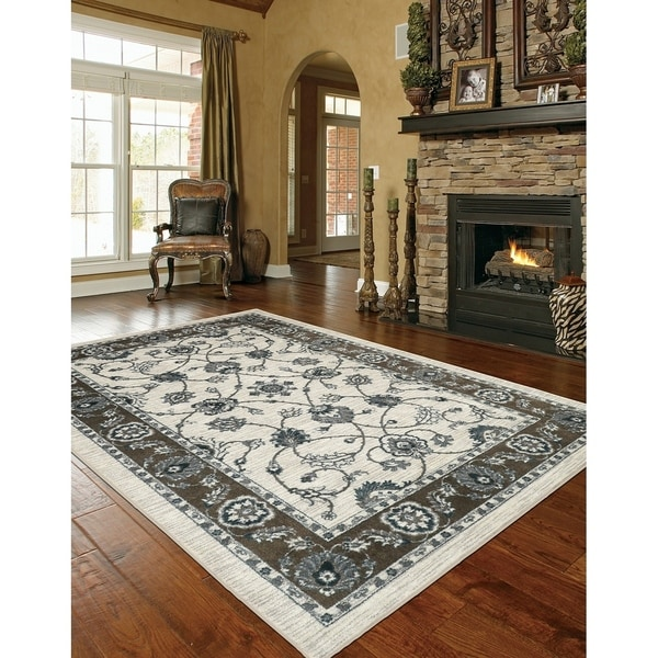 Mohawk Home Traditional Jewel Rug: Shop Mohawk Home Aurora Traditional Floralesq Area Rug (5