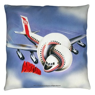Airplane/Postet Throw Pillow
