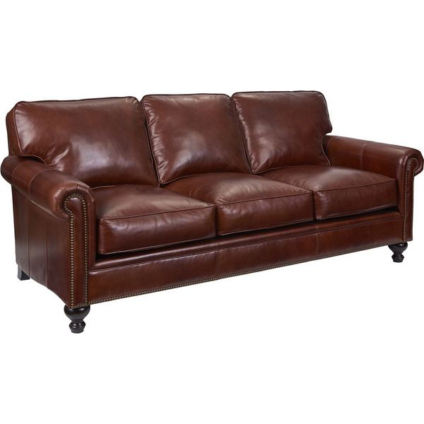 Shop Broyhill Harrison Leather Sofa Free Shipping Today