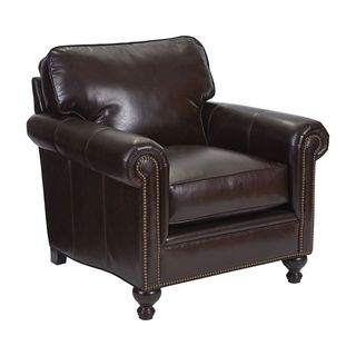 Broyhill Harrison Brown Leather Chair