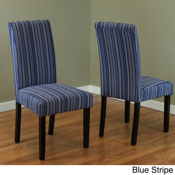 Blue Fabric Dining Chairs monsoon seville stripe fabric dining chairs (set of 2) - free