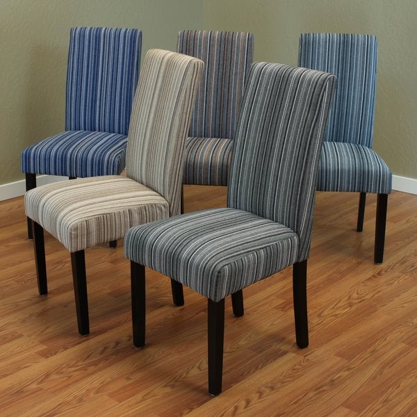 Striped Dining Room Chairs: Shop Monsoon Seville Stripe Fabric Dining Chairs (Set Of 2