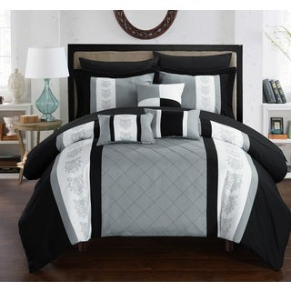 Chic Home Dalton Grey 10-piece Bed in a Bag Comforter Set with Sheets