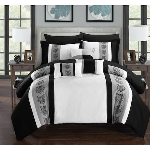 Chic Home Dalton White 10-Piece Bed in a Bag with Sheet Set