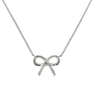 Eternally Haute Rhodium-plated Bow Necklace