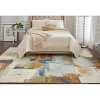 Mohawk Aurora Cool Abstraction Multi Area Rug (5' x 8') - 5' x  8'