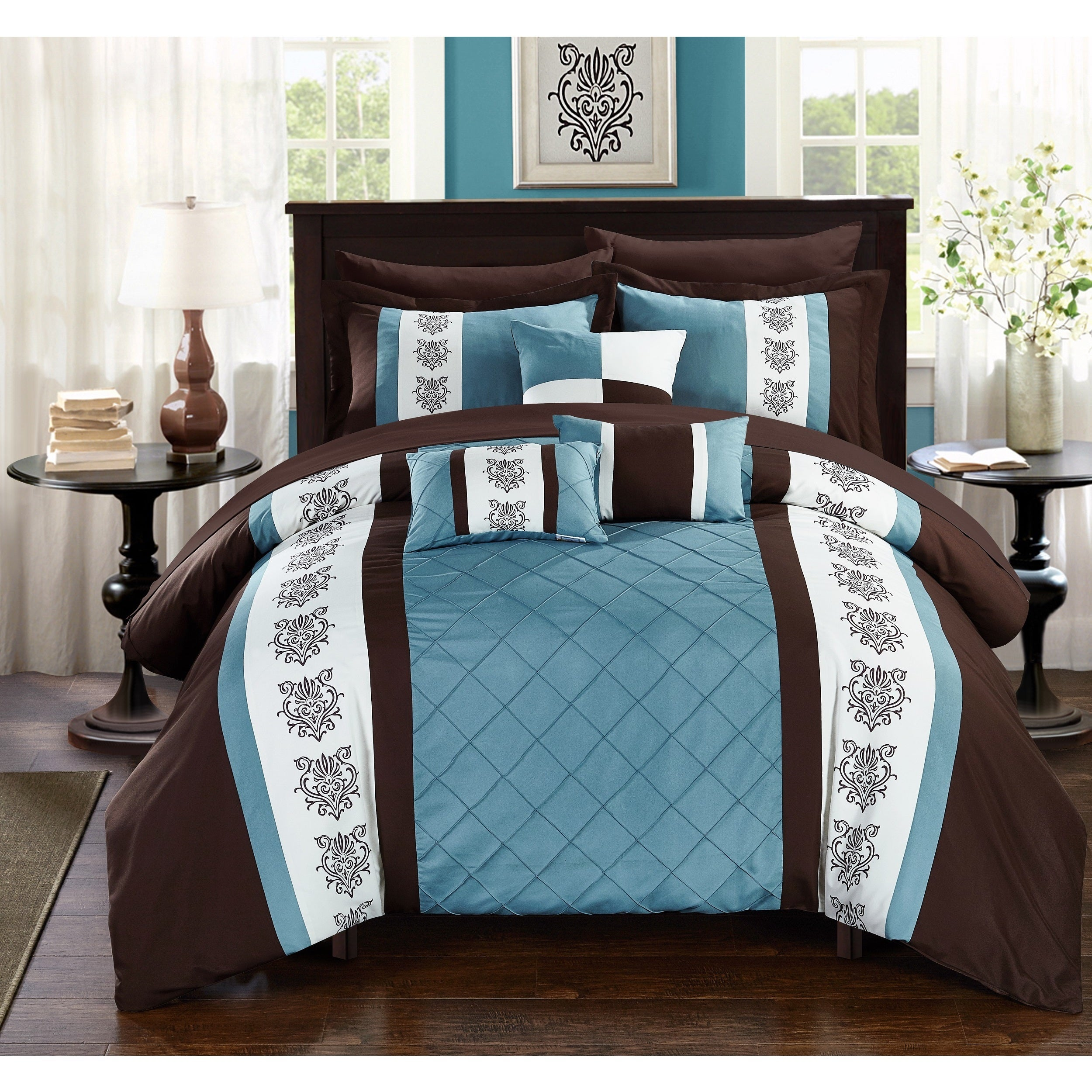 Chic Home Dalton Brown 10 Piece Bed In A Bag With Sheet Set