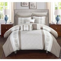 Chic Home Dalton Beige 10-Piece Bed in a Bag with Sheet Set