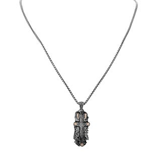 Stephen Webster Men's Black Sterling Silver Cross Necklace
