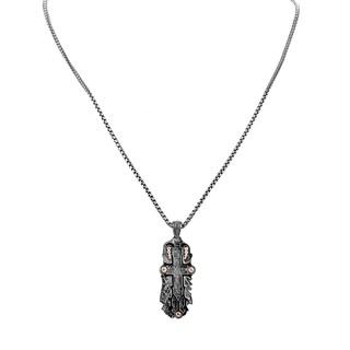 Stephen Webster Men's Black Sterling Silver Cross Necklace