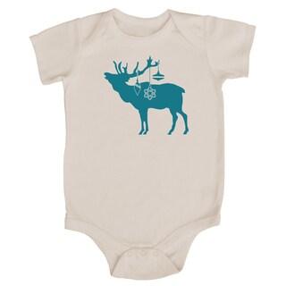 Rocket Bug Festive Elk Christmas Cotton Baby Bodysuit