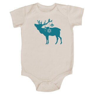 Rocket Bug Festive Elk Christmas Cotton Baby Bodysuit