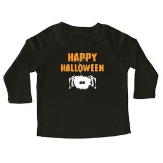 Rocket Bug Happy Halloween Spider Cotton Long Sleeve Shirt