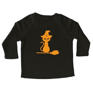 Rocket Bug Halloween Kitty Cotton Long Sleeve Shirt