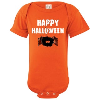 Rocket Bug Happy Halloween Spider Cotton Baby Bodysuit