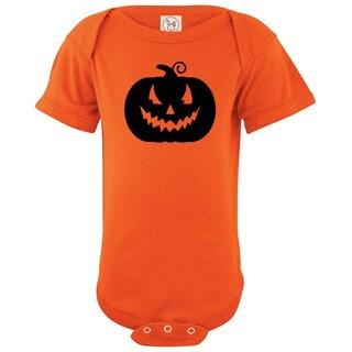 Rocket Bug Halloween Pumpkin Cotton Baby Bodysuit