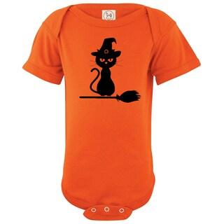 Rocket Bug Halloween Kitty Cotton Baby Bodysuit