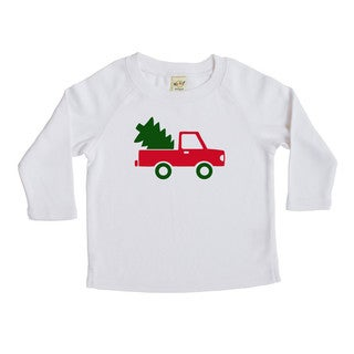 Rocket Bug Tree Delivery Christmas Cotton Long Sleeve Shirt