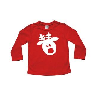 Rocket Bug Rudolph Christmas Cotton Long Sleeve Shirt