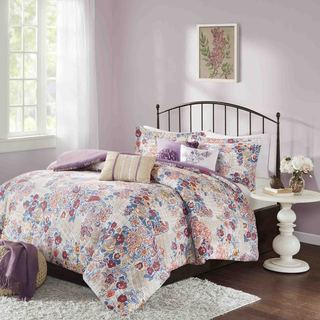 Madison Park Raylene Multi Cotton 6-piece Duvet Cover Set