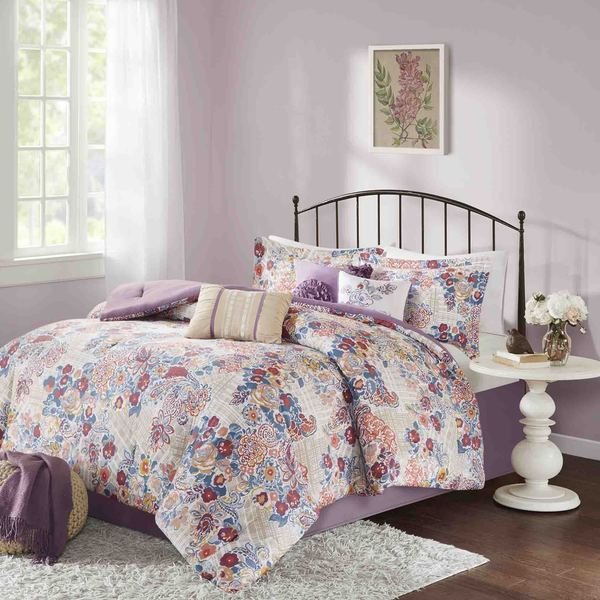 Madison Park Raylene Multi Cotton 7-piece Comforter Set