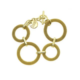 Isla Simone - 18k Gold Plated Woven Ring Bracelet
