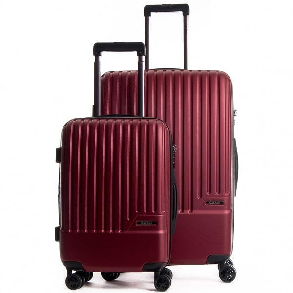 7c92ba347 CalPak Davis Black ABS Expandable 2-Piece Hardside Spinner Luggage Set