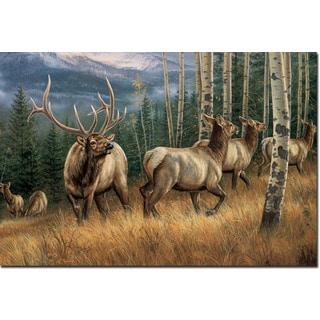 WGI Gallery Back Country Elk Birch Wood Printed Wall Art