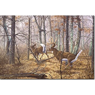WGI Gallery 'Autumn Pursuit' Printed Wood Wall Art
