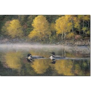 WGI Gallery 'Autumn Morning Shoreline' Wood Wall Art Print