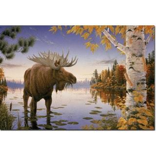 WGI Gallery 'Autumn Majesty Moose' Wall Art Printed on Wood