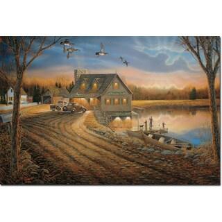 WGI Gallery 'Angler's Inn' Wood Print Wall Art