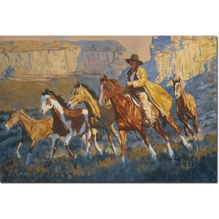WGI Gallery 'A Cowboy Day' Wall Art Printed on Wood